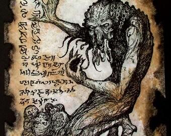 UNSPEAKABLE MONSTER Cthulhu larp Necronomicon Fragment