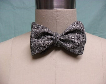 Black & White Stained Glass Window Bow Tie