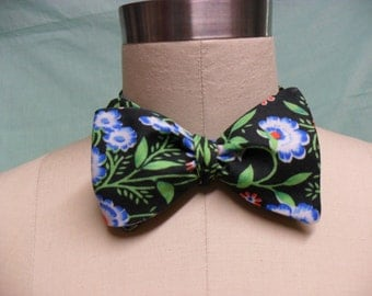 Hot House Black Floral Self-Tie Bow Tie
