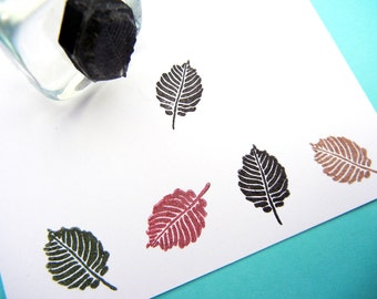 Tiny Leaf Rubber Stamp   Handmade rubber stamps by BlossomStamps