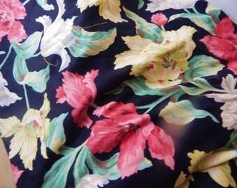 vintage Barkcloth Fabric ,Reproduction, 1950s, an original print