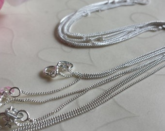 On Sale -- 4 pieces of 925 Sterling Silver FINE CURB Necklaces - 16 Inches, Buy More Save More