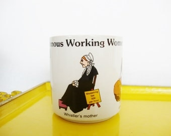vintage coffee mug whistlers mother famous working women Russ Berrie