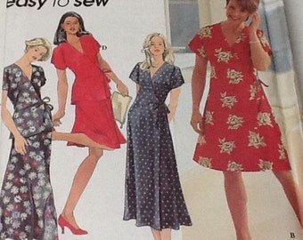 Simplicity Dress Top and Skirt Pattern size 10-14 Uncut wrap around style