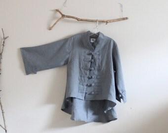 ready to wear handmade gray linen jacket size M