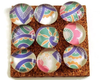Decorative Glass Push Pins  Thumb Tacks Cork Board Pins in Mai Tai ( P106)