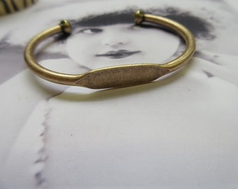 Brass Ox Plated Bangle Bracelet with ID Blank 1074BOX x1