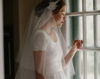 Juliet bridal cap wedding lace blusher veil - Grace no. 2112
