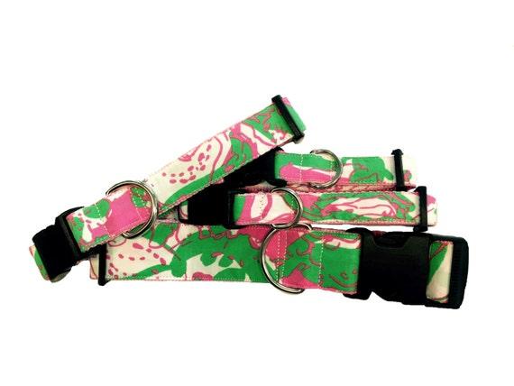 Pink Elephant Dog Collar