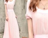 Aegon 2 - silk chiffon long dress (Q1010)
