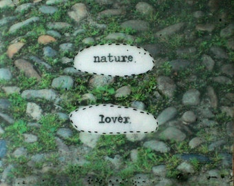 Talking Block No. 8 (nature lover)