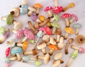 1/12TH scale - one dozen fairy mushrooms and poisonus toadstools by Lory