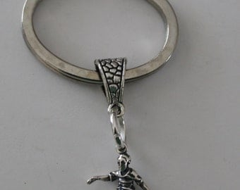 Sterling SOCCER PLAYER Key Ring, Key Chain - 3D - Sports