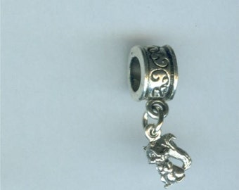 Sterling SQUIRREL Bead Charm fits All Name Brand Add a Bead Charm Bracelets- Wildlife, Totem