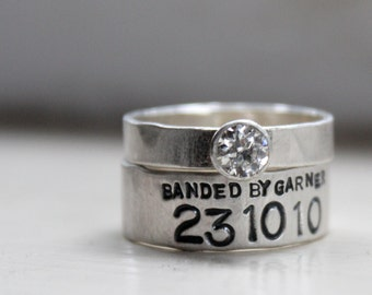 Duck Band Moissanite Diamond Wedding Ring Set with Engagement Ring