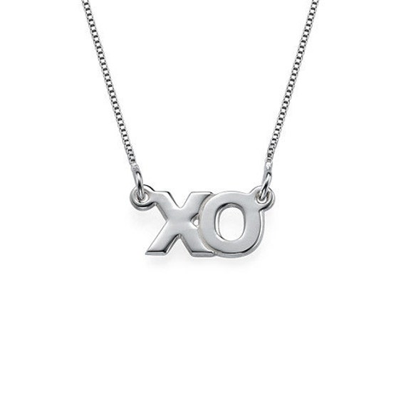 xo necklace in sterling silver free shipping by sincerelymepjd
