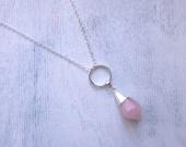 Divination Necklace in Rose Quartz