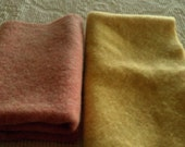 Vintage Felted Blanket Wool Sampler  Pink & Yellow Perfect for Diaper Covers  More