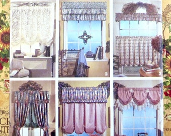 Curtains and Valances Pattern - Abbie's Jiffy 6 Pack - Simplicity 8401