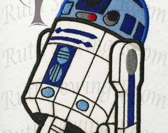 Star Wars R2D2 Applique, Applique Embroidery Design This is not a FILL or Patch