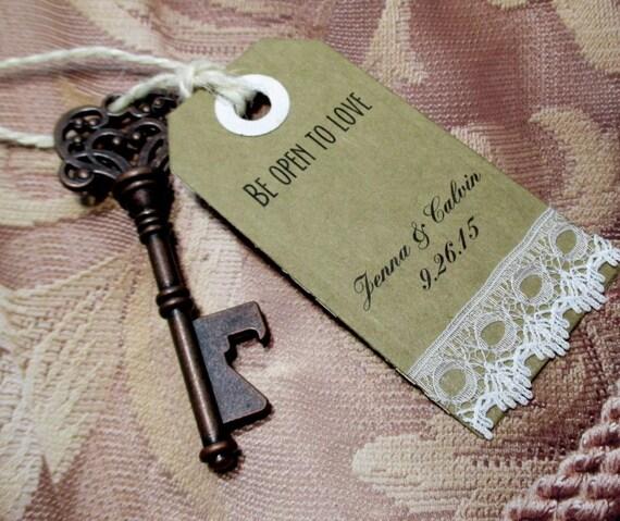 key bottle opener wedding favor set of 10 skeleton by pedoozle. Black Bedroom Furniture Sets. Home Design Ideas