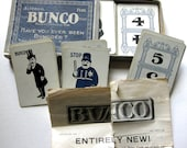 Fabulous Vintage Bunco Card Game, Complete Set, 115 Beautifully Aged Cards, Antique Numbers, Illustrations