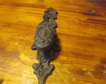 Free Shipping! Cast Iron Door Handle Knob Decorative Rust Old World Rustic