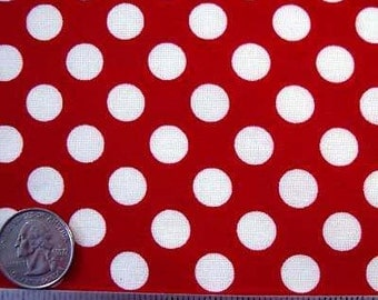 TA DOT MINNIE Red & White Cotton Quilt Fabric by the Yard, Half Yard, or Fat Quarter Fq - Michael Miller Polka Dot Minni