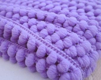 Orchid Purple Mini Pompom Trim