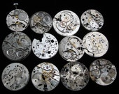 Destash Steampunk Watch Parts Movements Cogs Gears  Assemblage FW 14