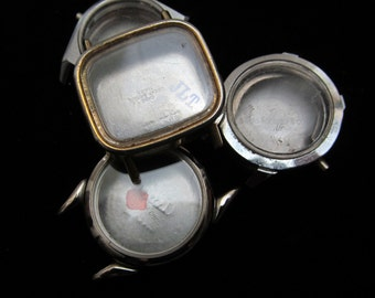 Vintage Antique Steampunk Watch Cases Altered Art Industrial  TV 96