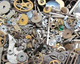 1 oz 28 grams Vintage Watch movements parts cogs gears Steampunk Z 25