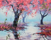 Printable paintings Pink wall art prints from my Original Oil Painting