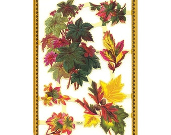 England Paper Scraps Die Cut Beautiful Leaves  A-151
