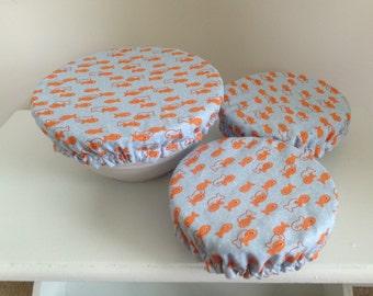 Travel Food Bowl Cover Lid Reusable Eco-Friendly Goldfish (3pcs)