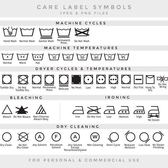 Care Label Clip Art Laundry Symbols Clipart
