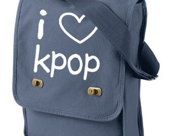 KPOP Bag I Love KPOP crossbody bag kawaii school bag korean bag cute shopping bag kpop music fandom