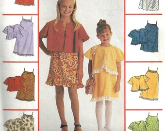 Child's Slip - Dress Pattern 1990s Children's McCall's Sewing Lined Jacket Uncut Girl's Size 4 - 6 Breast 23 - 25 Inches