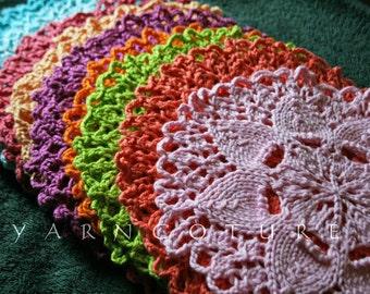 Lilly Pad Design Dishcloths