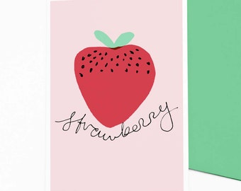 Strawberry  - card