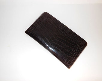 50s wallet / Vintage 1950's Mark Cross French Wallet
