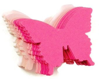 Paper Die Cut  Butterflies  Pink Pop  Set of 50