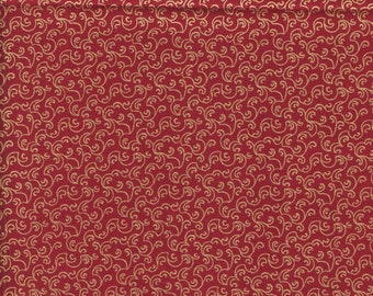 P & B Textiles Metallics Luxury Essentials 664 DX Scarlet Gold Stippling by the yard