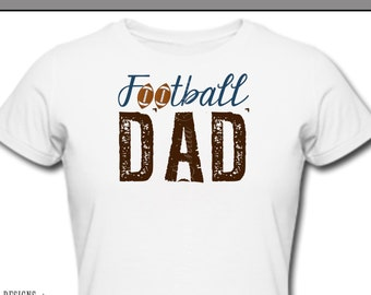 Iron On ~ Football DAD Ball ~ Printable Digital Download for Iron on Transfer for T-Shirt, tote, fabric ~ Soccer, Football, Football Mom Dad