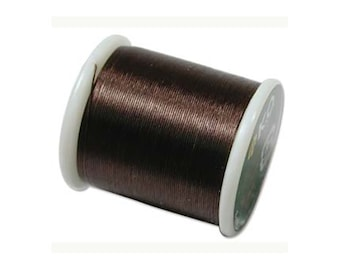 K.O. Beading Thread, Dark Brown Japanese Beading Thread 43333 55yd, KO Beading Thread, Size B Beading Thread, Pre-Waxed Nylon Beading Thread
