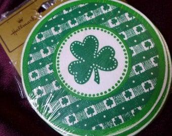 Green Clover Coasters