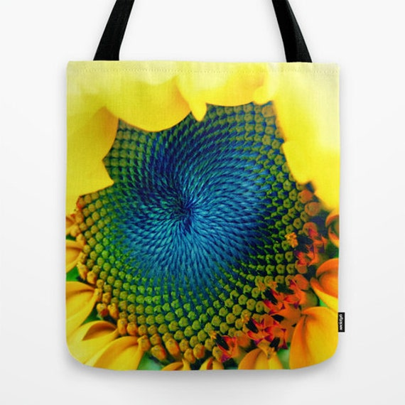 Sunflower Tote Bag, 13x13, 16x16, 18x18, Yellow Tote, Flower Tote, Beach Tote, Shopping Tote, Office Bag, Shoulder Bag, Market Tote, Fashion