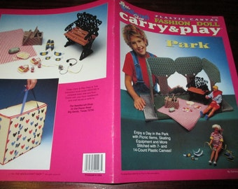 Plastic Canvas Patterns Carry and Play Park Needlecraft Shop 943739 Plastic Canvas HTF