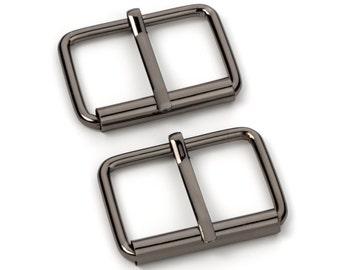 "10pcs - 1 1/2"" Roller Pin Belt Buckles - Black Nickel - Free Shipping (ROLLER BUCKLE RBK-123)"