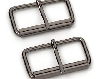 "50pcs - 2"" Roller Pin Belt Buckles - Black Nickel - Free Shipping (ROLLER BUCKLE RBK-127)"
